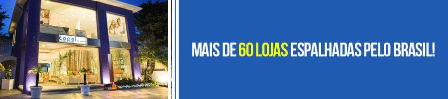 Mais de 60 lojas espalhadas pelo Brasil