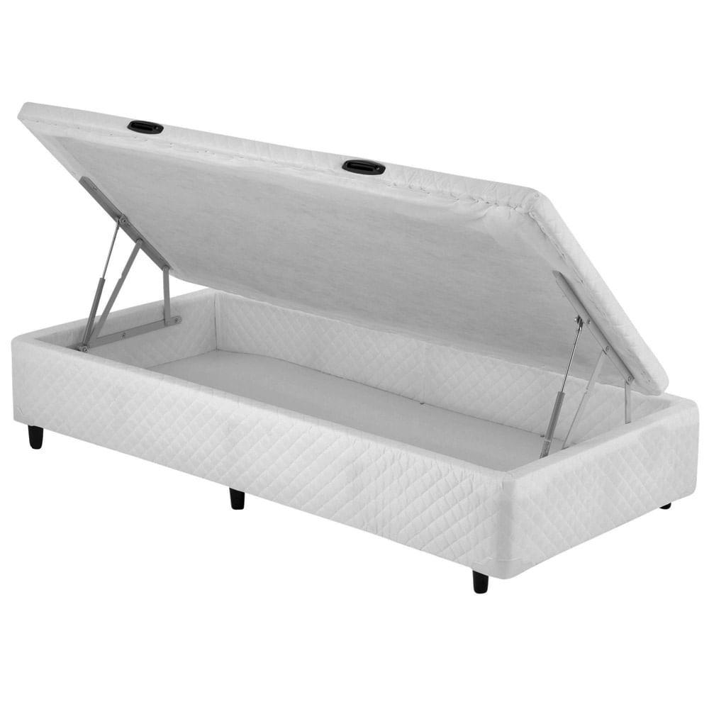 Cama Box SOLTEIRO Dabe Bau Pistão Branco - 088x188 813312d432c5c