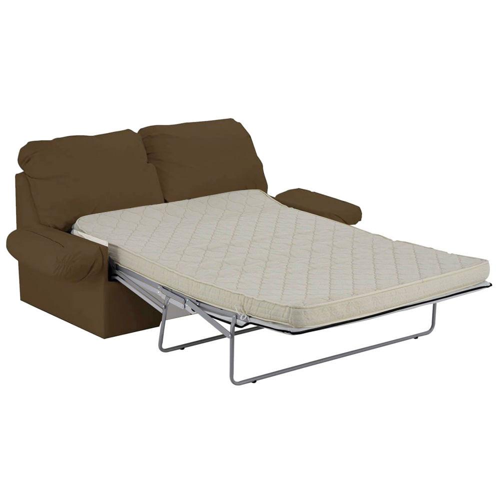 Sof cama ecol gico marrom claro copel colch es for Sofa cama 2 metros