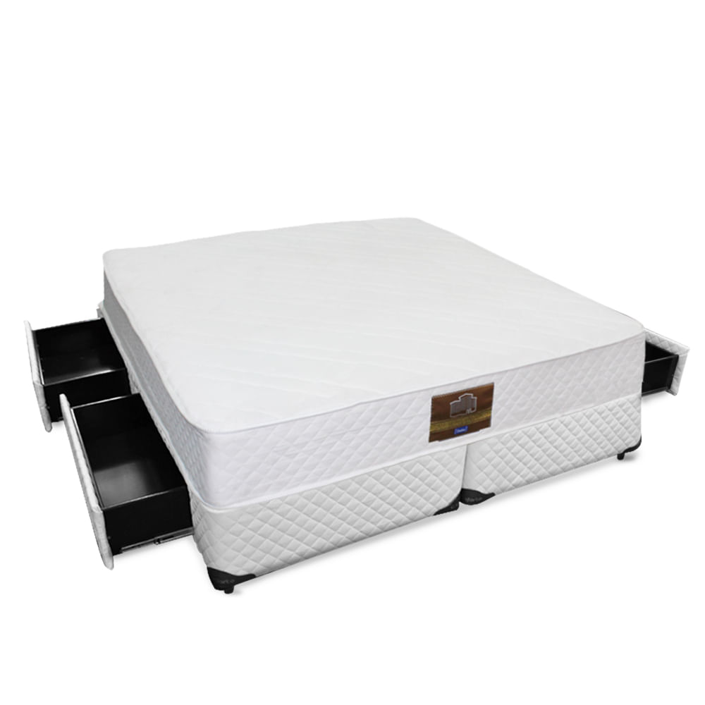 56283e51a4 Conjunto Dabe Hotel KING Box 4 Gavetas - Molas Ensacadas - 193x203 - King  Size
