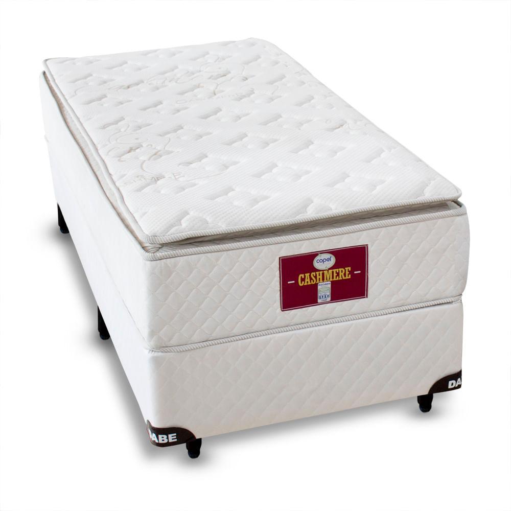 a9b195e474 Cama Box Solteiro Cosmopolita + Colchão Cashmere Solteiro Pillow - Molas  Ensacadas - 97x203 - Solteiro Americano