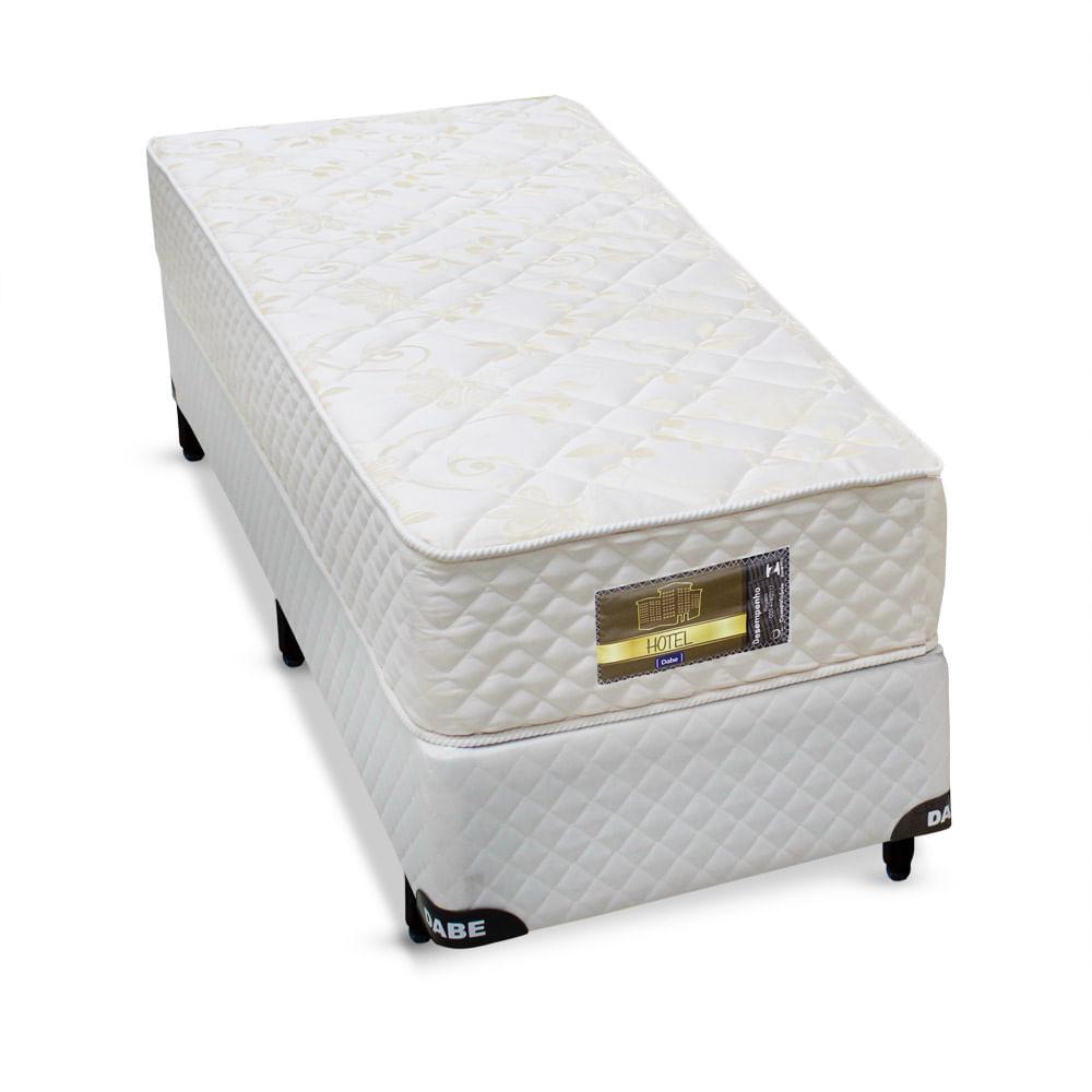 6efc018f5 Cama box + Colchão Dabe Hotel Solteiro - Molas Bonnel - 096X203 - Solteiro  Americano