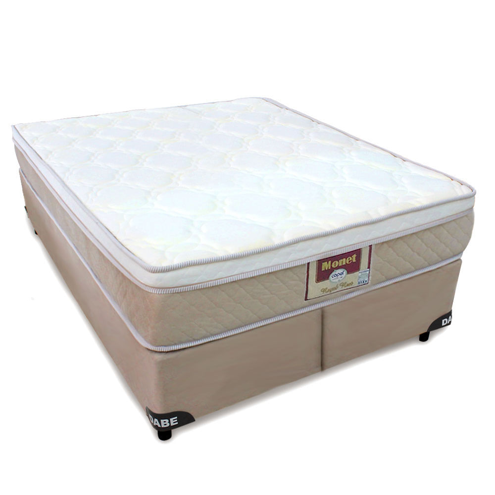 0612576fd Cama Box+Colchão Monet QUEEN SIZE - Molas Ensacadas - 158x198 - Queen Size