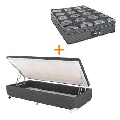 conjunto-box-bau-lateral-solteiro-padrao-cinza---colchao-dabe-black-power---molas-ensacadas---088x188