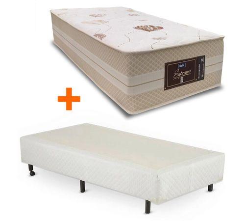 cama-box-universal-solteiro-branco-copel-colchoes-mais-colchao-supremo-novo