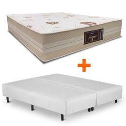 cama-box-universal-queen-branco-copel-colchoes-mais-colchao-supremo-novo