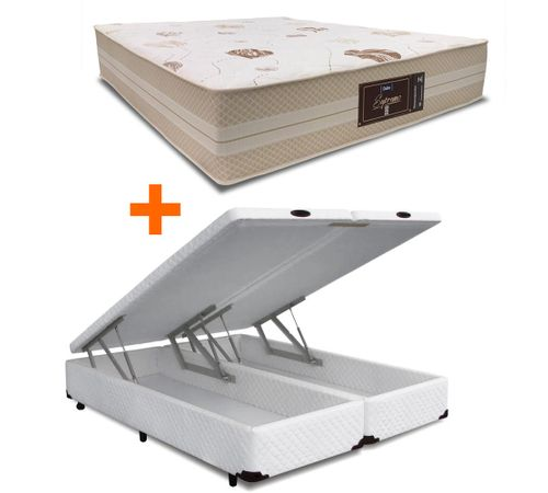 cama-box-bau-queen-branco-copel-colchoes-mais-colchao-supremo-novo